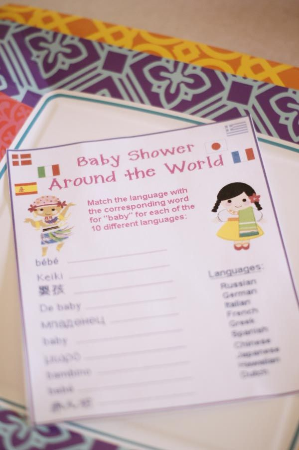 Small World Baby Shower Game