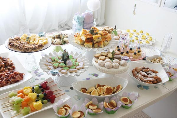 First birthday party brunch buffet