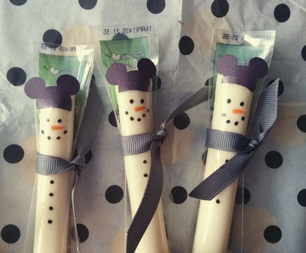 Mickey Mouse snowman string cheese