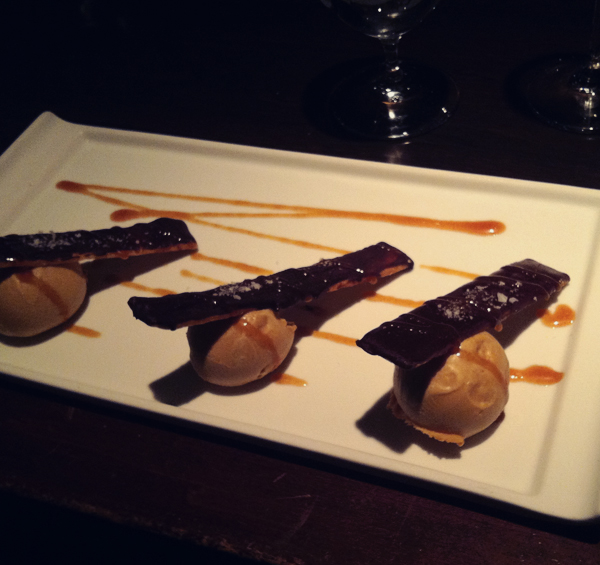 Twix dessert at Carpe Diem