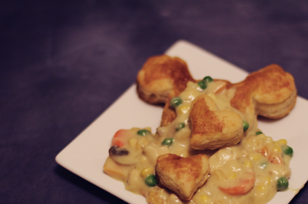 Disney dinner idea. See the recipe at http://everclevermom.com/2014/01/mickey-mouse-puff-pastry-sweet-and-savory-variations/