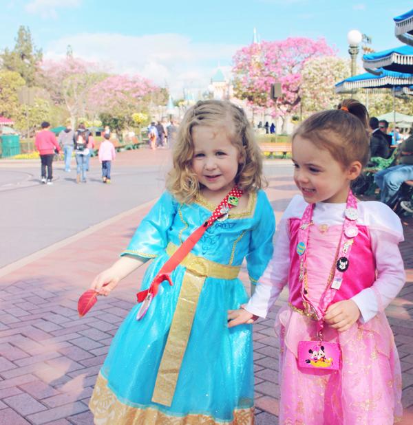 Princess dresses. 10 tips for taking little kids to Disneyland. See the full list here: http://everclevermom.com/2014/02/10-tips-for-taking-little-kids-to-disneyland/