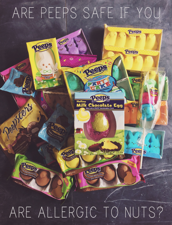 Are Peeps safe if you are allergic to nuts? What people with nut allergies need to look for: http://everclevermom.com/2014/04/peanut-allergy-easter-are-peeps-safe-if-youre-allergic-to-nuts/