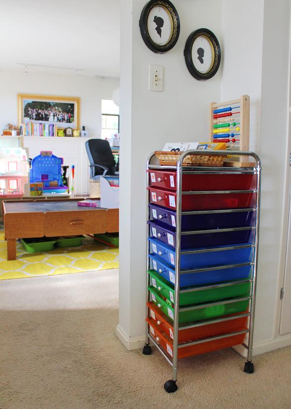 How We Organize Our Homeschool Preschool