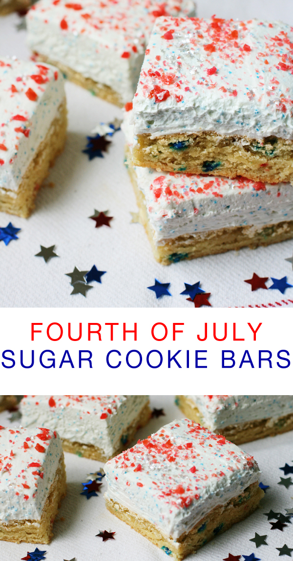 Pop Rocks sugar cookie bars for the 4th of July