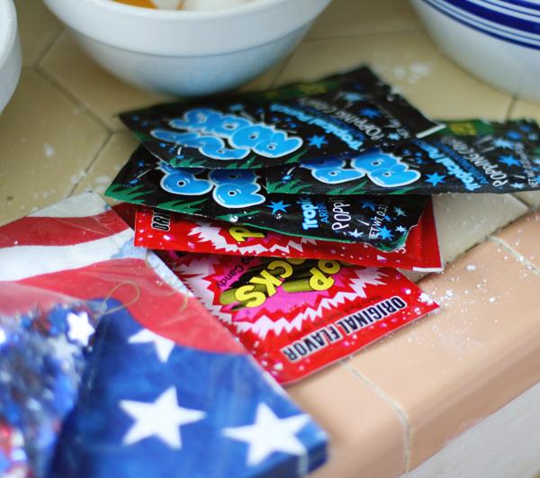 Pop Rocks firecracker cookies