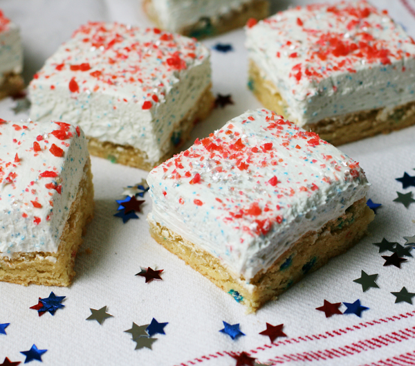 Firecracker cookie bars for the fourth of July