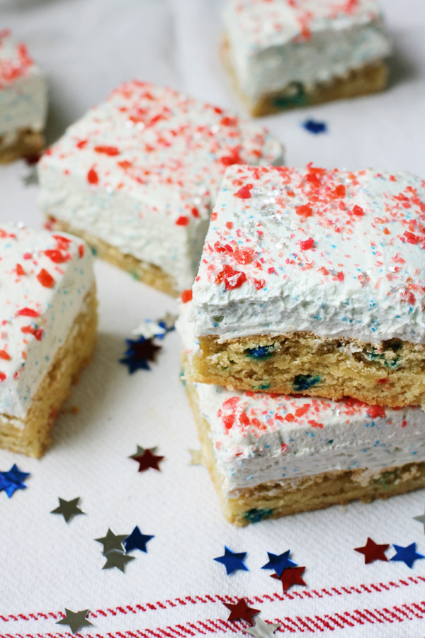 Nut-Free Firecracker Cookie Bars for the 4th of July