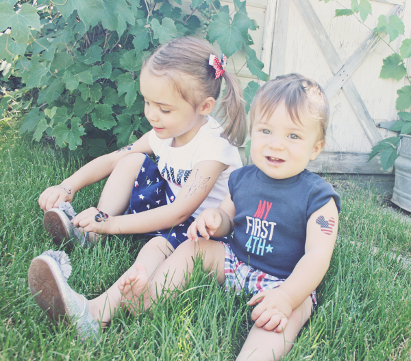 4th of July temporary tattoos DIY