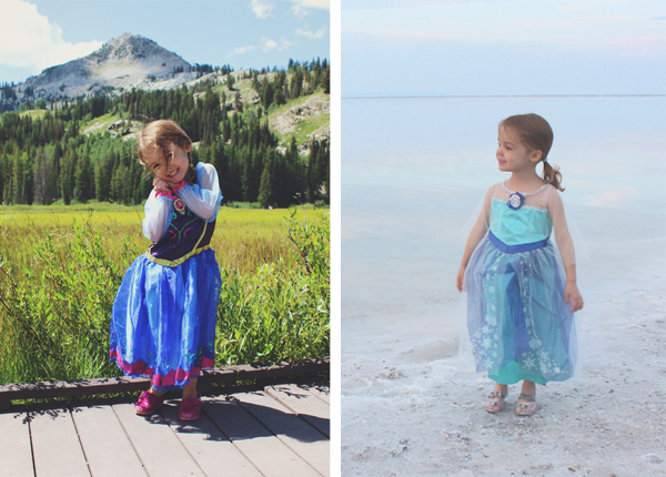 Princess Anna and Queen Elsa costumes #FROZENFun  #shop