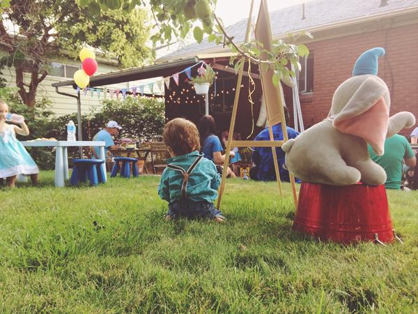 Calvin at his Dumbo themed Disney birthday party