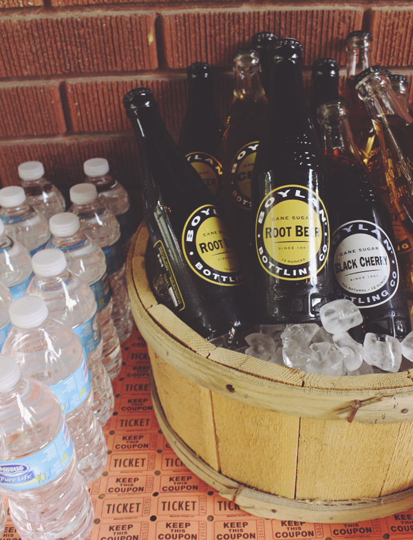 Vintage looking sodas for party