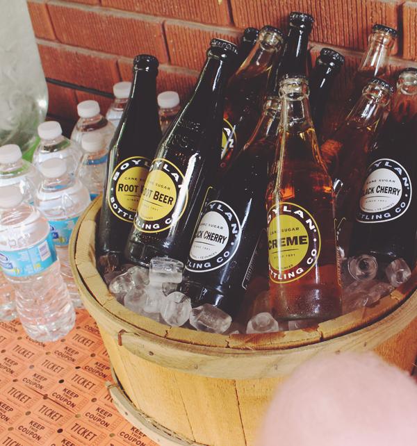Boylan soda in planter at party