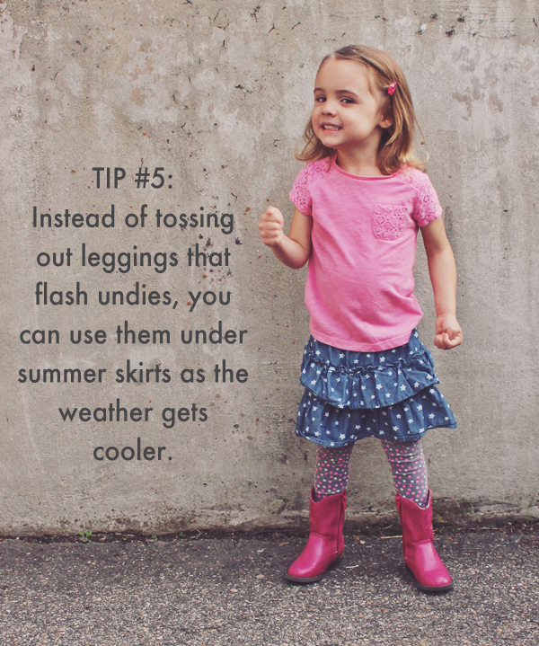 Hide rips with layers - 20 Ideas for Getting More Out of Your Kid's Clothes