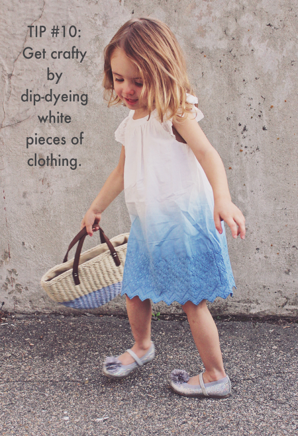 Dye white pieces of clothing - 20 Ideas for Getting More Out of Your Kid's Clothes