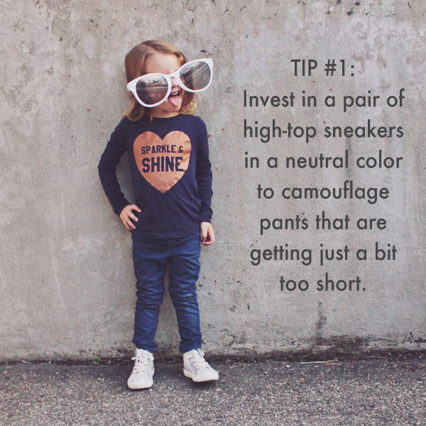 Pants too short? 20 Ideas for Getting More Out of Your Kid's Clothes