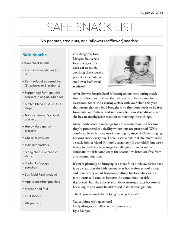 safe snack list
