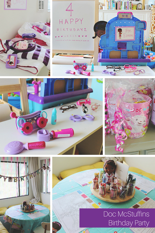 Ever clever mom birthday party playdate with doc mcstuffins for Home alone theme decorations