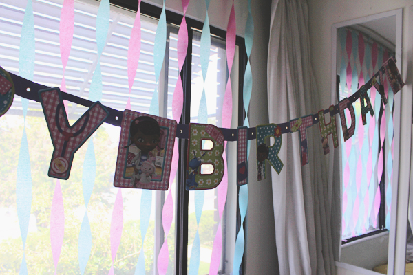 Doc McStuffins birthday banner #JuniorCelebrates #CollectiveBias #shop