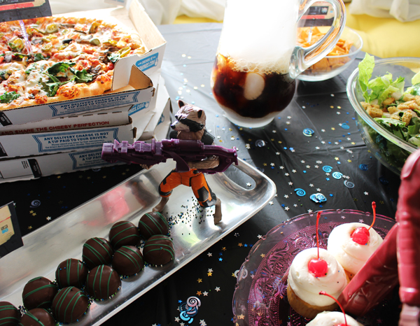 Guardians of the Galaxy party food table #InfinityHeroes #CollectiveBias #shop