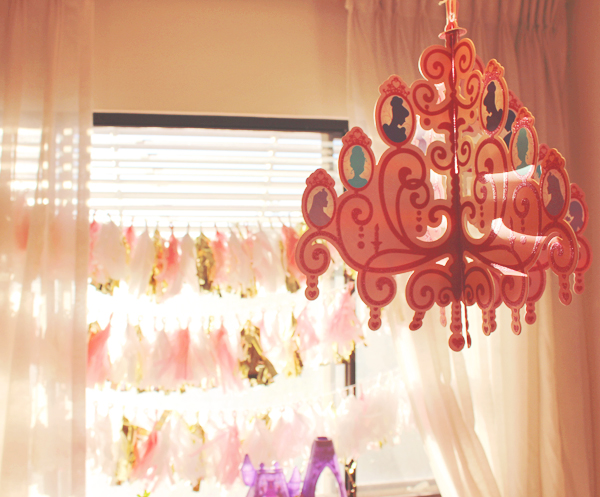 Disney princess chandelier party decor #DisneyBeauties #shop