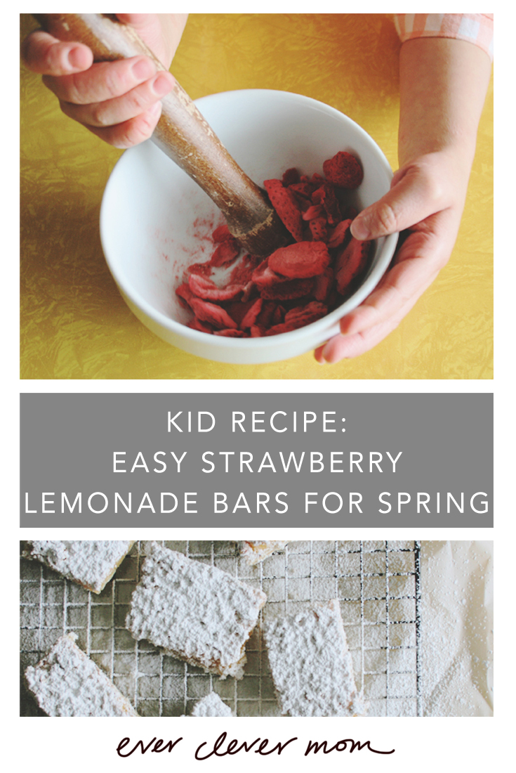 Kid Recipe- Easy Strawberry Lemonade Bars for Spring