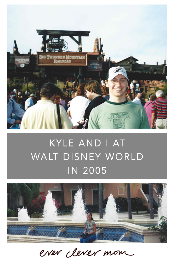 Kyle and I at Walt Disney World in 2005
