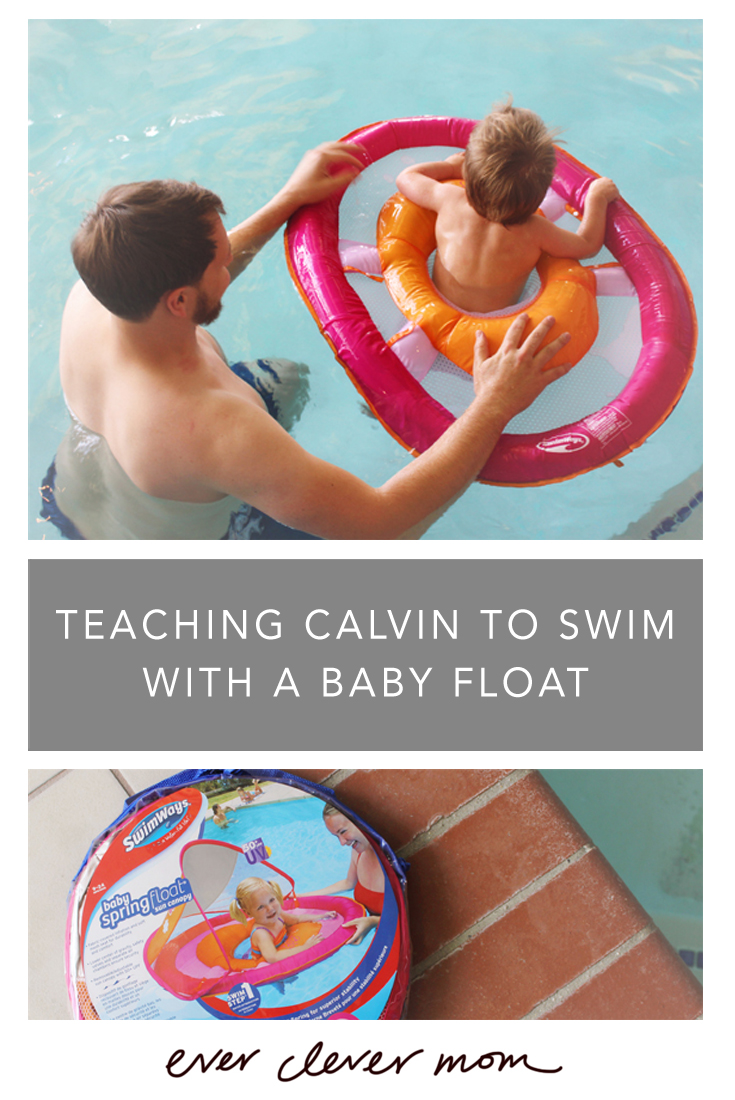 Teaching Calvin to Swim with a Baby Float