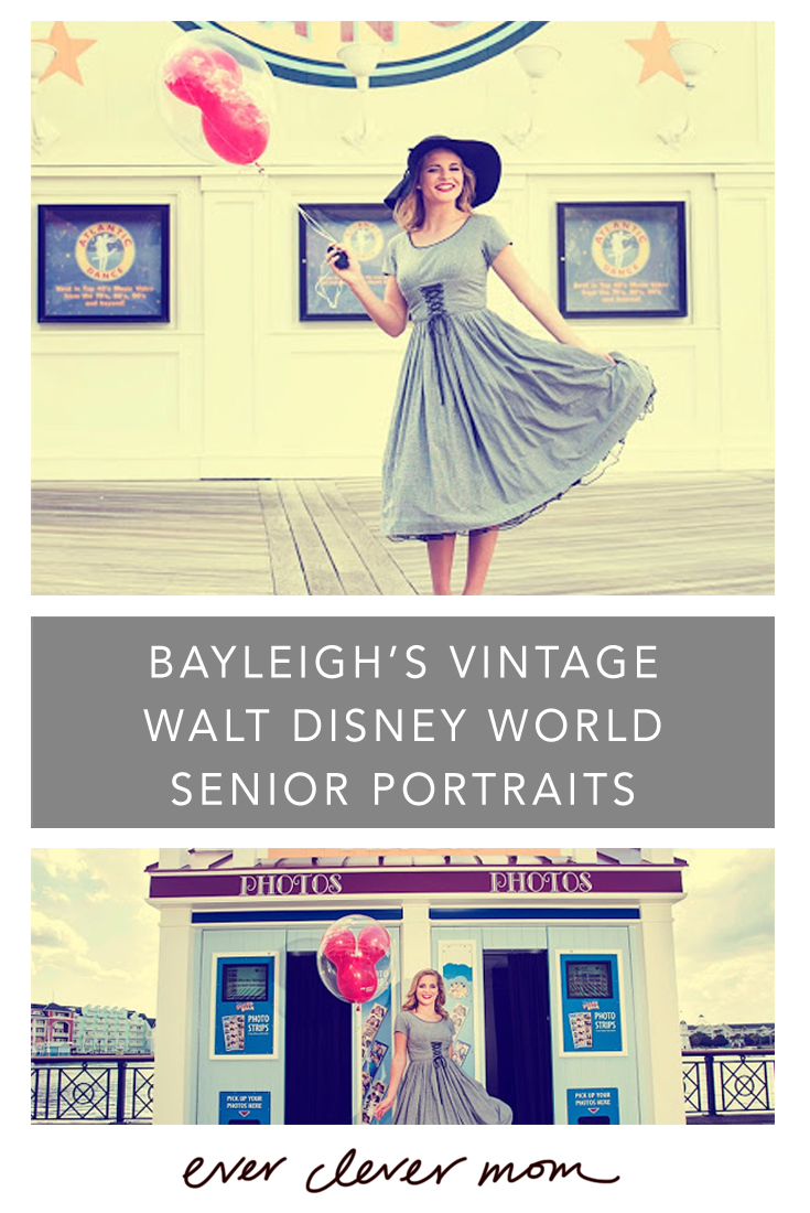 Bayleigh's Vintage Walt Disney World Senior Portraits