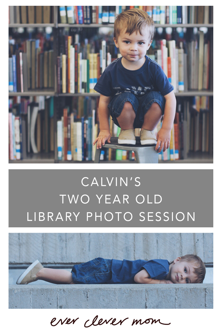 Calvin's Two Year Old Library Photo Session