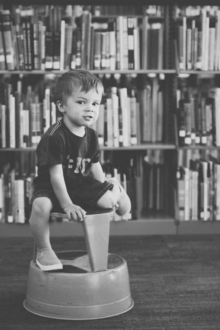 Library kid photos