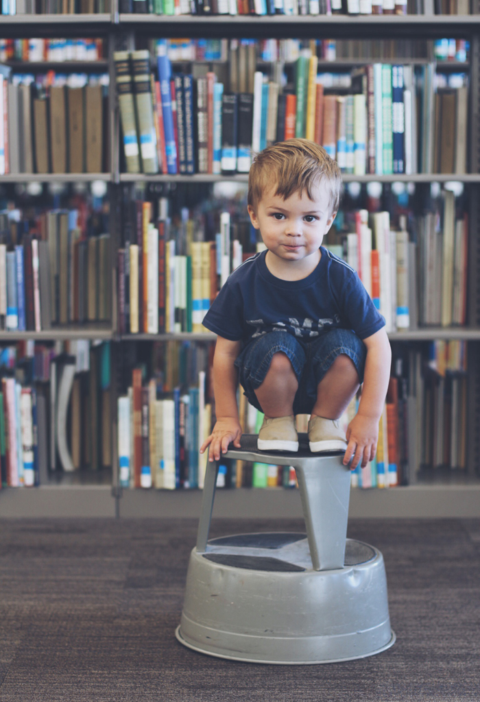 Cute library toddler photo