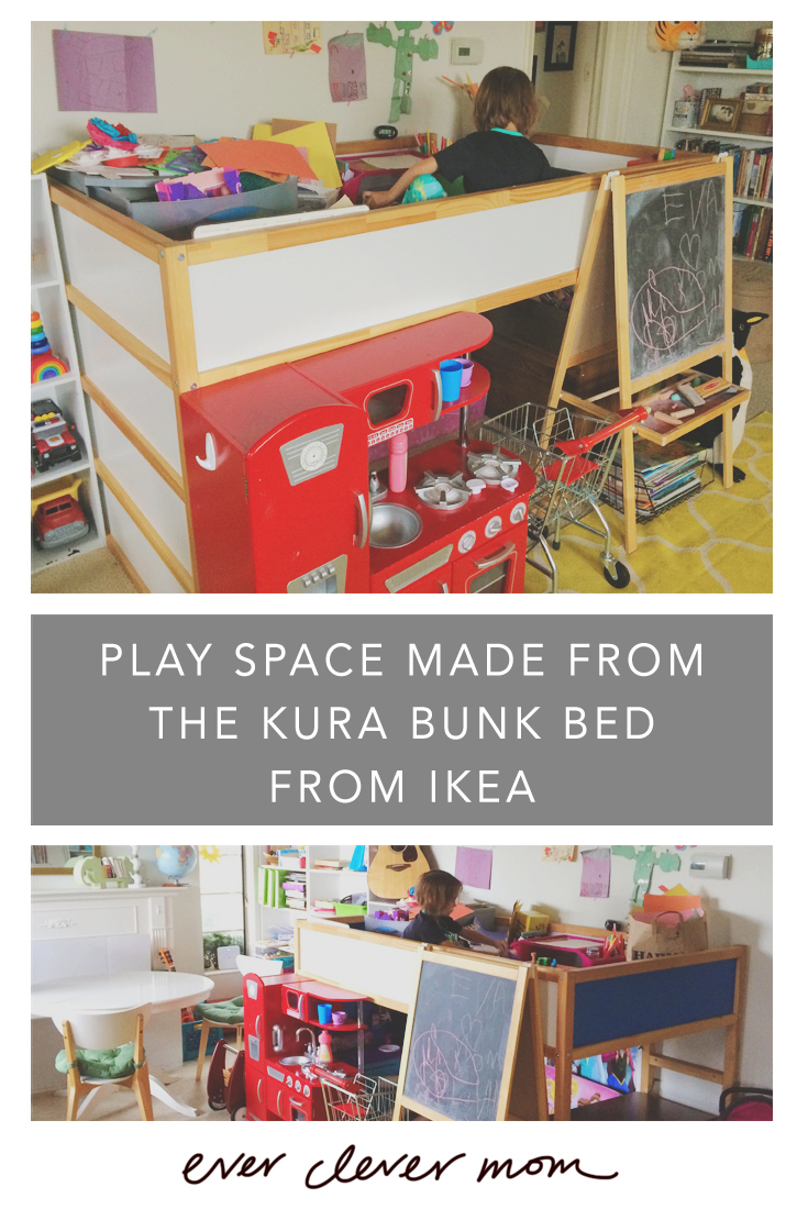 Play Space Made from the KURA Bunk Bed from IKEA