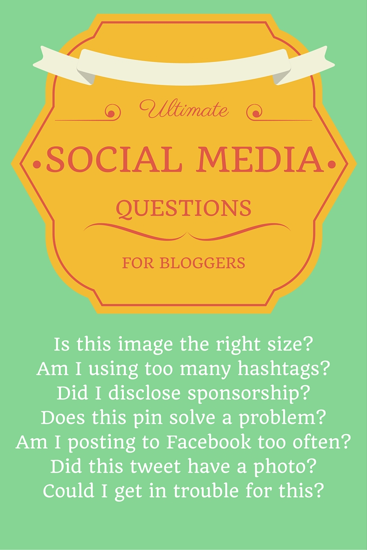 Ultimate Social Media Questions for Bloggers