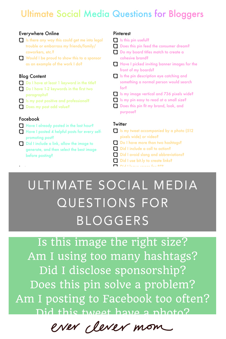 Social Media Questions for Bloggers