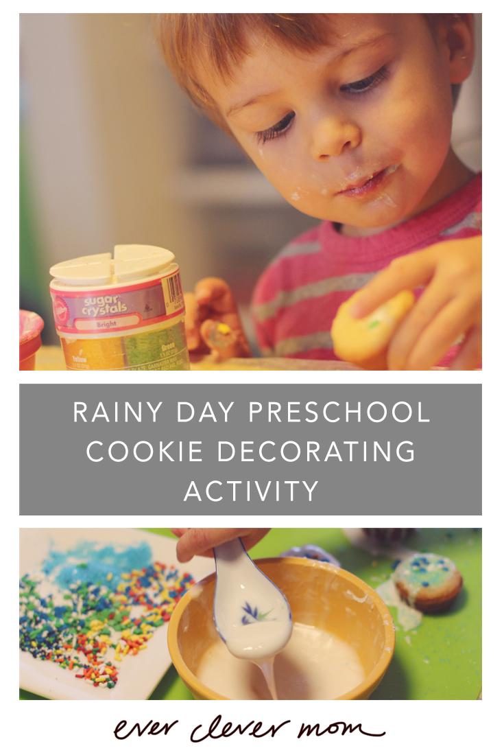 Rainy Day Preschool Cookie Activity