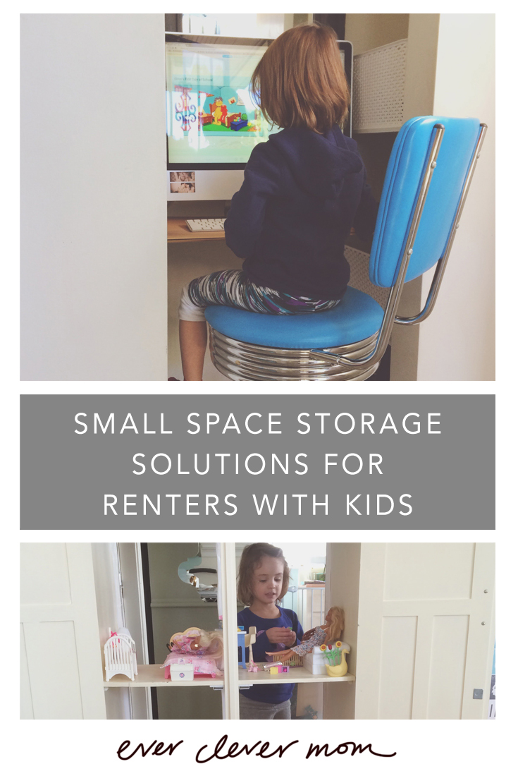 Small space storage solutions for renters with kids