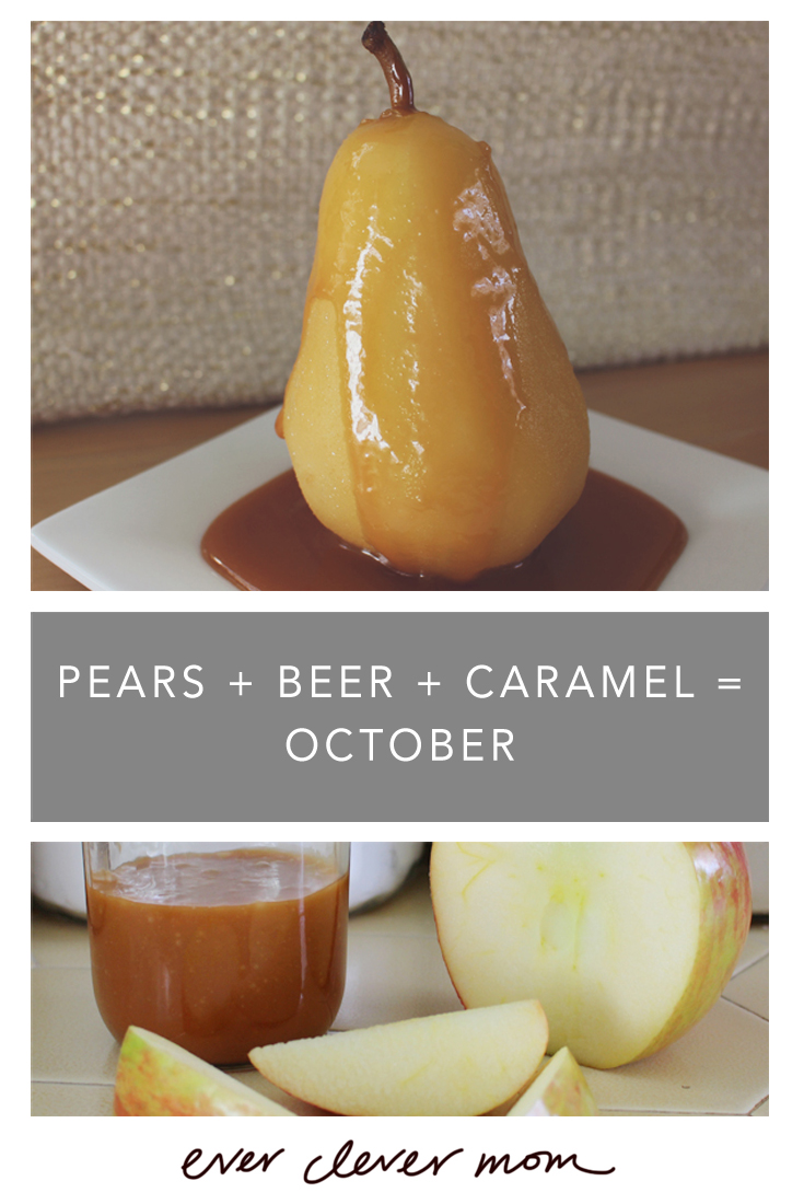 Pears + Beer + Caramel = October