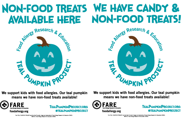 teal pumpkin project posters