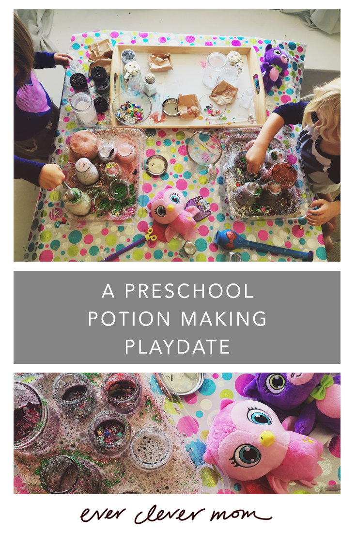 A Preschool Potion Making Playdate