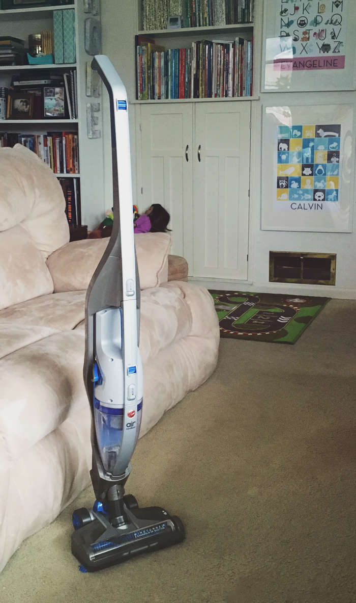 The 4 Minute Playroom Sweep with the Hoover Cordless 2-In-1 Stick and Handheld Vacuum