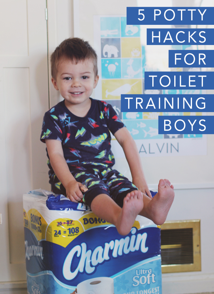 5 potty hacks for toilet training boys