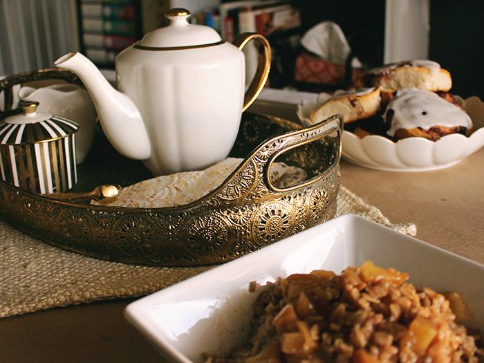 Gold tea tray