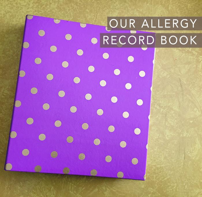 allergy record book