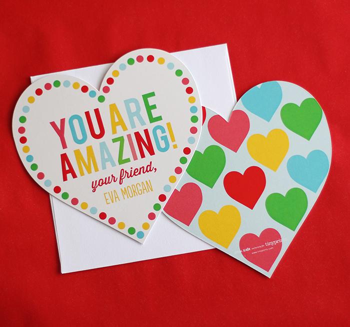 Tiny Prints heart shaped valentines