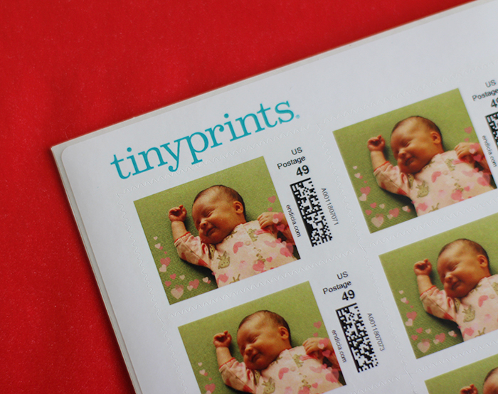 Personalized stamps from Tiny Prints