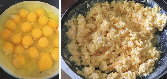 Breakfast burrito eggs